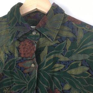 Vtg Banana Republic floral safari & travel shirt